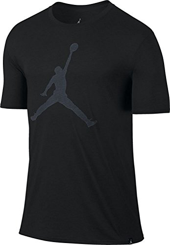 Jordan-t-shirt Weiße (Nike Iconic Jumpman T-Shirt mit Logo, aus der Serie: Michael Jordan, für Herren L Schwarz / Weiß)