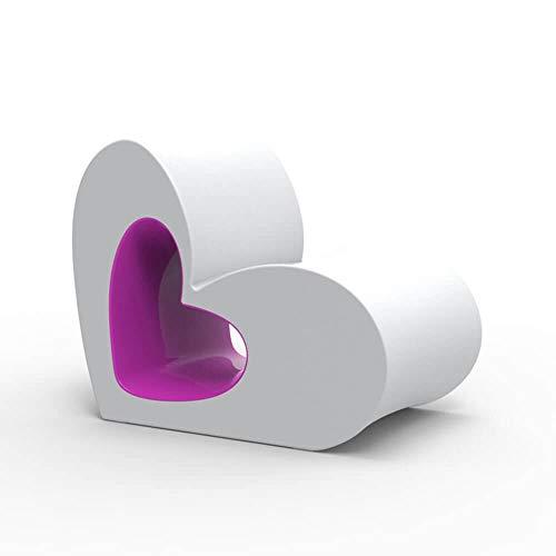 Vondom Agatha Stuhl für Kinder weiß lackiert mit violettem Innere