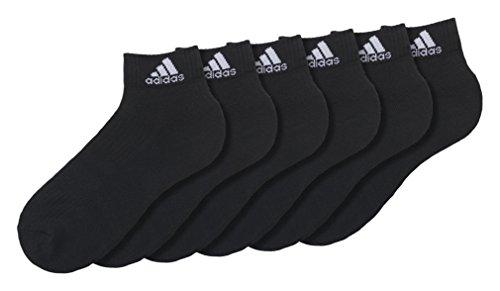 adidas Knöchelsocken Socken 3S Per An Hc 6P Black/White, 43-46 (Herren Nylon-knöchel-socken)