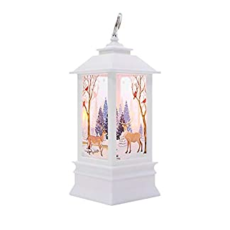 Navidad con LED Luz de té Velas para Navidad Decoración fiesta Navidad led pequeña lámpara de aceite pequeño alce blanco, pequeño ángel blanco, pequeño muñeco de nieve blanco, pequeño ángel dorado