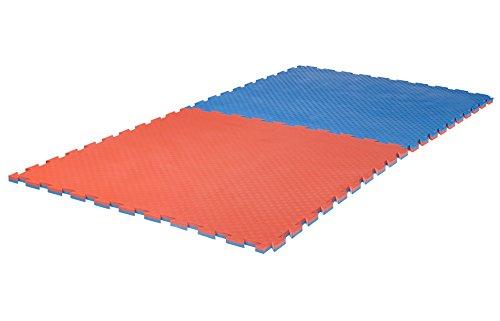 Ju-Sports Puzzlematte Checker 2 cm rot/blau Wendematte