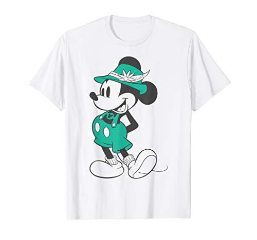 Disney Mickey Mouse Vintage Lederhosen Portrait T-Shirt -