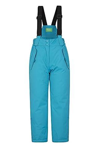 Mountain Warehouse Pantalon de Ski Enfant Garçon Fille Salopette Snowboard Pare-neige bretelles Hiver Honey Sarcelle 5-6 ANS
