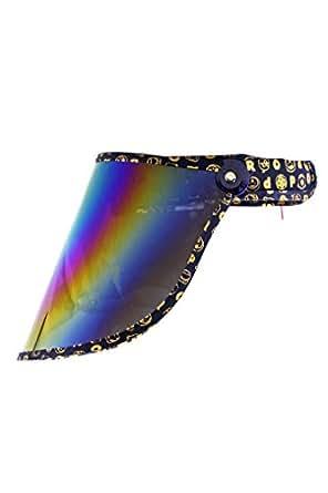 Weltneuheit! Vollgesicht Sonnenbrille UV Schutz für Sie und Ihn, jung und alt (blau)