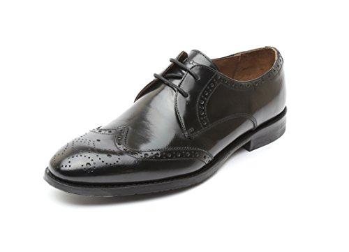 Gordon & Bros Herrenschuhe Mirco 204-003 Herren Businessschuhe, Schnürhalbschuhe, Anzugschuhe, Derby Schuhe, Blake, Schwarz (smooth black), EU 43