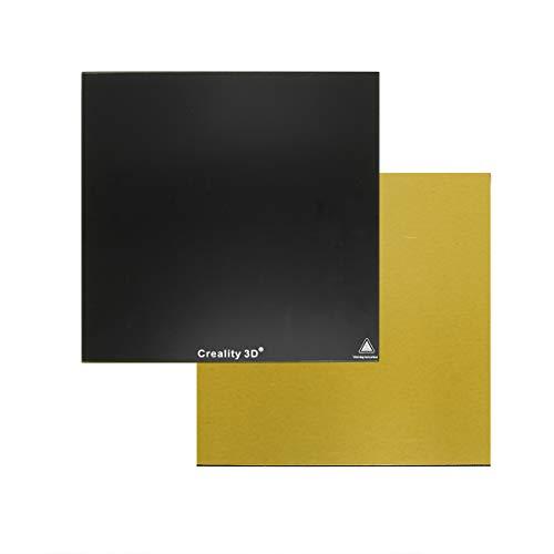 Wisamic - Cama de cristal para impresora 3D - 235 x 235 x 3 mm Creality de vidrio templado climatizada para impresoras 3D Ender 3