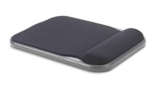 Kensington 57711 Mauspad höhenverstellbar mit Gelkissen (Kompatibel mit Laser- und optischer Maus, 200 x 280 x 37 mm) schwarz
