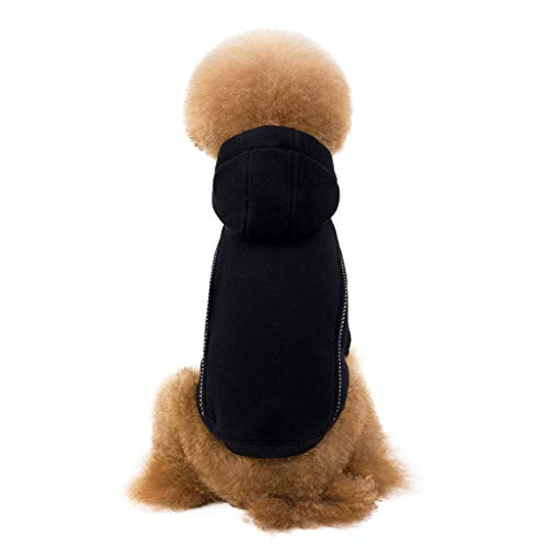 Allegorly Haustier Kleidung Hoodie Pullover Hund Katze Welpen Mantel Warme Kapuzenjacke Hundepullover Wintermantel mit Kapuze Mode Overall Jumpsuit Shirt Kostüm für Kleinen Mittel (Best Tech Kostüm)