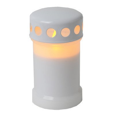 Star - Vela led (parpadeante), color blanco