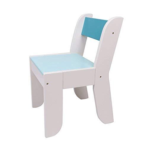 Labebe Stuhl für Kinder, dunkelblaue Farbe für 1-5 Jahre alte Kinder, Massivholz, Gebrauch für Malerei/Lesen/Gruppenspiel im Klassenzimmer oder zu Hause, Passen zum Orange-Eule-Tisch (Im Klassenzimmer Eule)