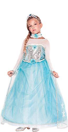 Carnevale Frozen Kostüm Elsa - Carnevale Venizano CAV53911-6 - Kinderkostüm PRINCIPESSA Delle NEVI Bimba - Alter: 1-6 Jahre - Größe: 6