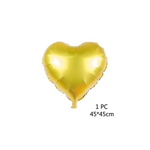 10pcs / lot 12 Zoll Hochglanz-Metallic-Latex-Ballon Glitter Konfetti Luftballons Kindergeburtstag Hochzeit Party Supplies Metall Chrom Luftballons, 1PC Herz