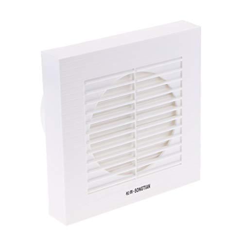 Fenteer Weiß Abluftventilator Badlüfter Wandventilator Ventilator für Badezimmer Küchen - 6 Zoll