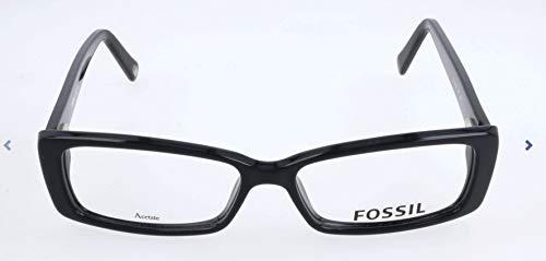 Fossil Brillengestelle FOS 6004 Rechteckig Brillengestelle 52, Schwarz