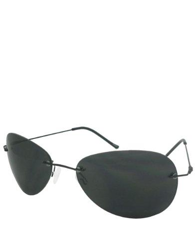 Horatio Style Sonnenbrille, Rahmenlos / Rauchfarbene Gläser