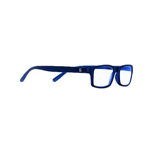 Z-ZOOM Lesebrille Style 09353 Blau +2.0 Damen Herren Unisex Lesebrillen Augenoptik Flexibel Lesehilfe Sehhilfe Leser Brille