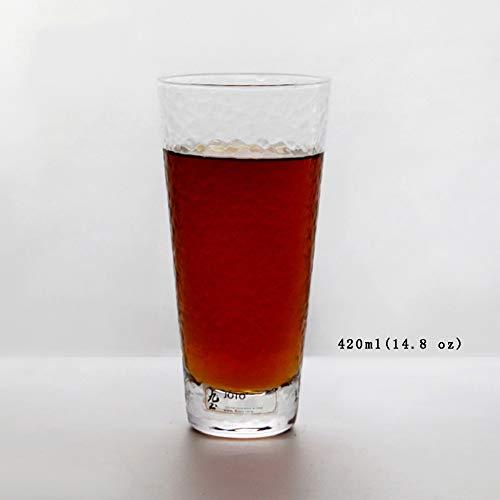 Tumblers Whiskyglas, Schweren Base Bruchsicher Farbige Trinken Brille Trinken Brille Für Wasser Getränke & Cocktails Restaurant-Stil-E 420ml(14.8 oz) - Farbige Multi Weingläser