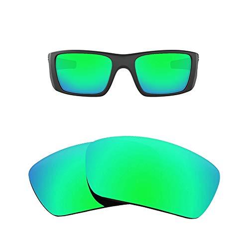 Neue Marke polalized Ersatz-Objektive für Oakley Fuel Cell Sonnenbrille, Eiche & Ban mehrere Farbe Optionen K003, Emerald - Polarized