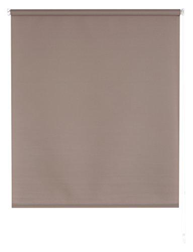 Blindecor Ara - Estor enrollable translúcido liso, 140 x 175 cm, color topo