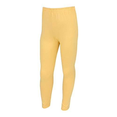 TupTam Mädchen Lange Leggins Blickdicht, Farbe: Gelb, Größe: 128