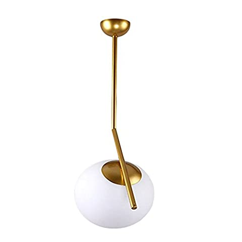 Postmodern Simple Creative Art Glass LED Chandelier for Study Bedroom