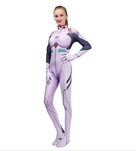 en Cosplay Kostüm Deadpool Party Cosplay Kostüm Frau Bodysuit,White-XXXL-Adult ()