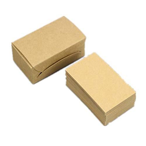 400 Stück blanko Kraftnotizpapier Visitenkarten Vokabelkarten Grußkarten DIY Geschenkkarte blanko Papieranhänger