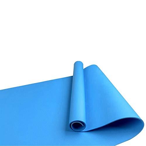 dongzhifeng Dienstprogramm 4mm Yoga-Matte Übungspad Dicke Rutschfeste Falten Gymnastikmatte Pilatus Supplies 4 Farben Rutschfeste Bodenspielmatte 173cm * 61cm blau