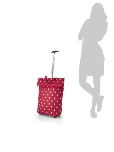 Reisenthel Trolley M, Borsa shopping, Carrello spesa rotolo, grigio talpa barocco, NT7027 - artista strisce Nero