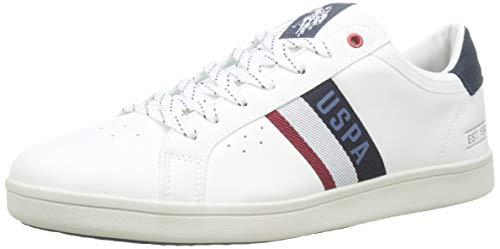 U.S. Polo Assn. Herren Icon Gymnastikschuhe, Mehrfarbig (Bianco/Blu Scuro 011), 43 EU (Us Polo Polo Assn)