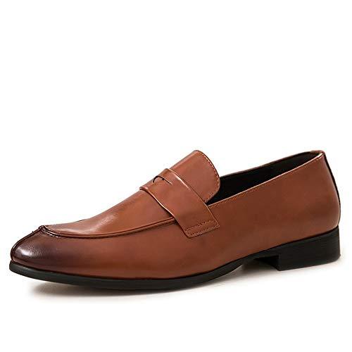 JiuRui Oxfords de negocios y casuales -Top holgazanes de vestimenta for los hombres, punta estrecha...