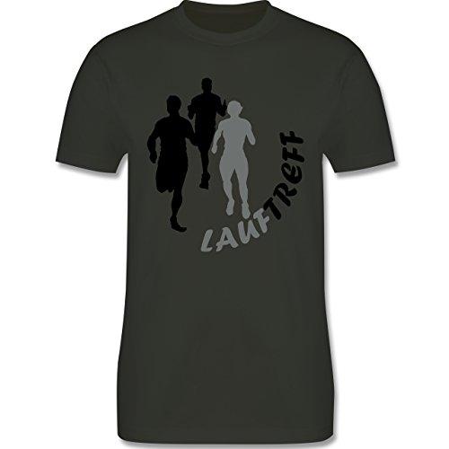 Laufsport - Lauftreff - Herren Premium T-Shirt Army Grün