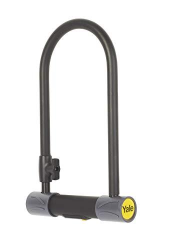 Yale YUL2/13/230/1 High Defendor U - Candado para bicicleta color plateado y negro