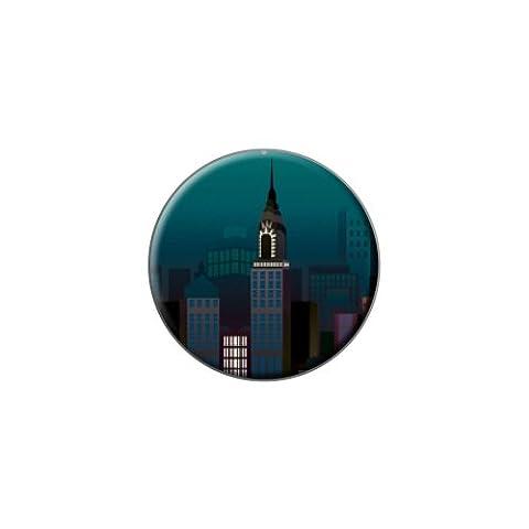New York City Skyline bei Nacht: Empire State Building New York, Manhattan, Metall, Handtasche, Hemd, Krawatte Tack (Skyline Pin)
