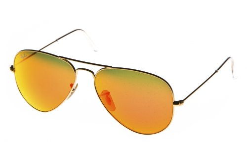 "Ray Ban Sonnebrille ""Aviator"" Gold/Rot"