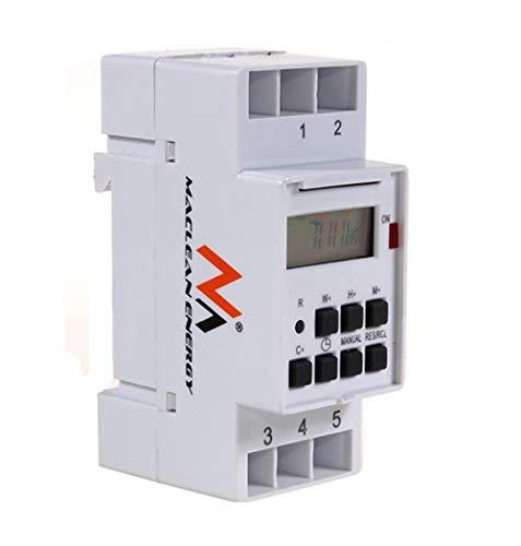 Maclean Programmateur horaire électrique hebdomadaire à affichage numérique pour rail DIN 16A...