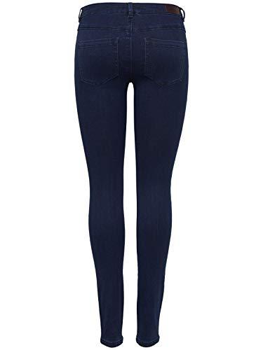 ONLY NOS Damen Skinny Jeans onlROYAL REG SK DNM 101 NOOS, Blau (Dark Blue Denim), W27/L32 (Herstellergröße: S)