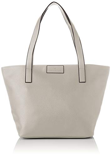 TOM TAILOR Shopper Damen Miri Zip, Grau (Grau), 17.5x28x36 cm,Tasche Damen