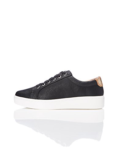 FIND Damen Flache Sneaker, Schwarz (Black), 37 EU (Fashion Sneaker)