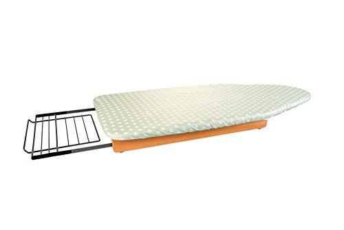 Arredamenti italia asse da stiro stiropratico, legno - da tavolo - portatile con custodia - finitura ciliegio