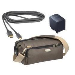 Canon Zubehör Kit für die LEGRIA Camcorder HFS 10, HFS 100, HF 20, HF 200 (Tasche, HDMI-Kabel, Akku BP 819) (Cannon Camcorder 20)