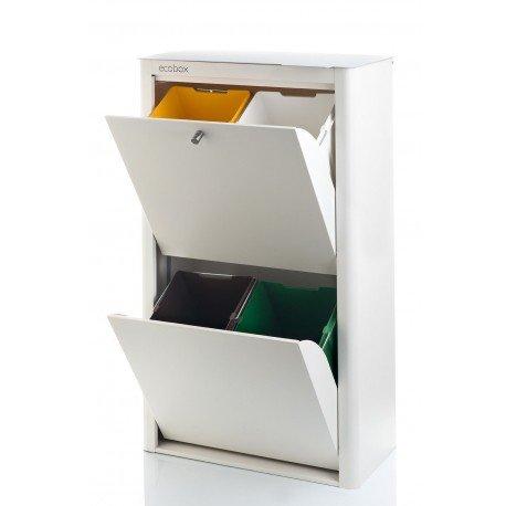 DON HIERRO - Poubelle de tri sélectif CUBEK, 4 compartiments. 4 couleurs disponibles.