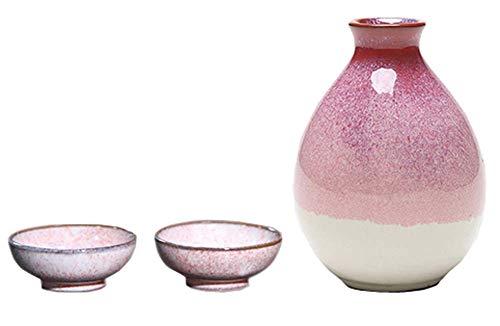 Black Temptation Bouteille de vin en céramique de Style Ancien mis en Verre Set de vin de saké, M1