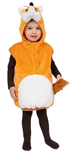 (narrenkiste Oh2029-104-110 beige-weiß Kinder Fuchs Weste Kostüm Gr.104-110)