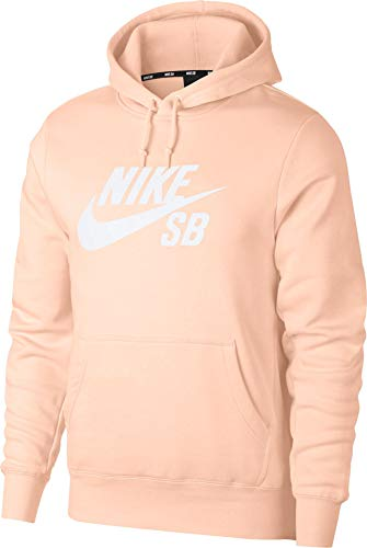 Nike Herren Icon Hoodie, Washed Coral/White, L EU Icon Pullover Hoodie