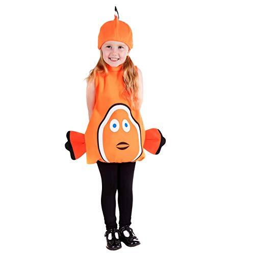 Fun Shack FNK4482-102 Kostüm, Unisex Children, Clown Fish, Größe (Finding Nemo Dory Kostüm)
