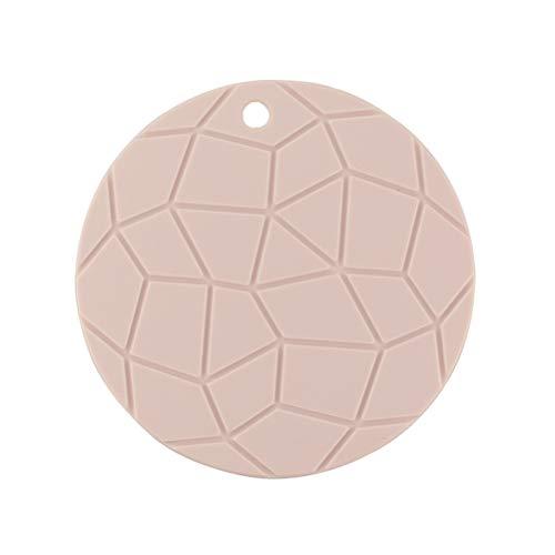 UPKOCH Silikon Drain Pad Wärmedämmung Tischset Küchentisch Matte Topflappen (Pink)