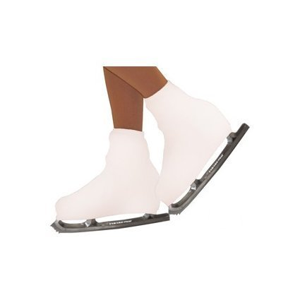 STD SKATES Par de Fundas cubre botas para patines de patinaje artístico en micro fibra muy resistente (blanco)