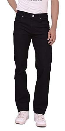 DAD Authentic Denim Stretchable Jeans For Men (Dad-133-Black-32)