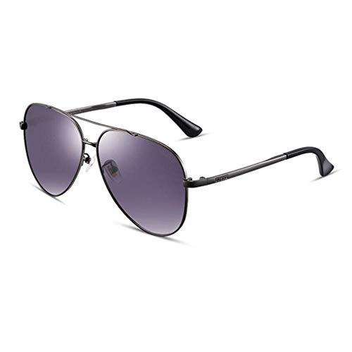 JOLLY Pilot Sonnenbrillen Herren Polarized Sunglasses Womens Mirrored Lens Unisex Erwachsene Sonnenbrillen (Farbe : Lila)